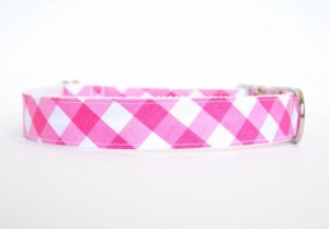 Gingham_Dog_Collar_-_Pink_large